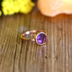 Natural Amethyst Ring in Vermeil (Rose) Gold