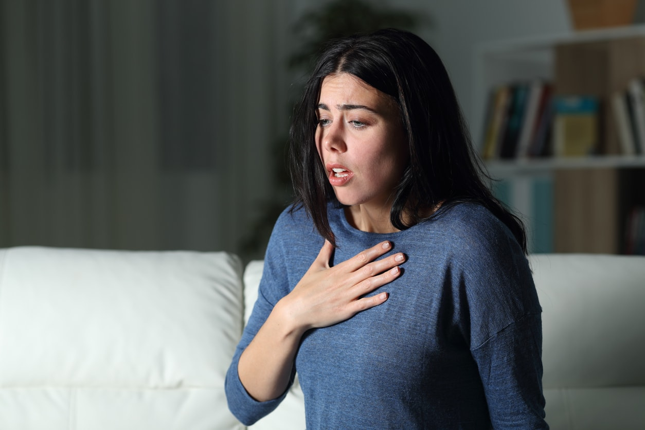 Woman having panic attack