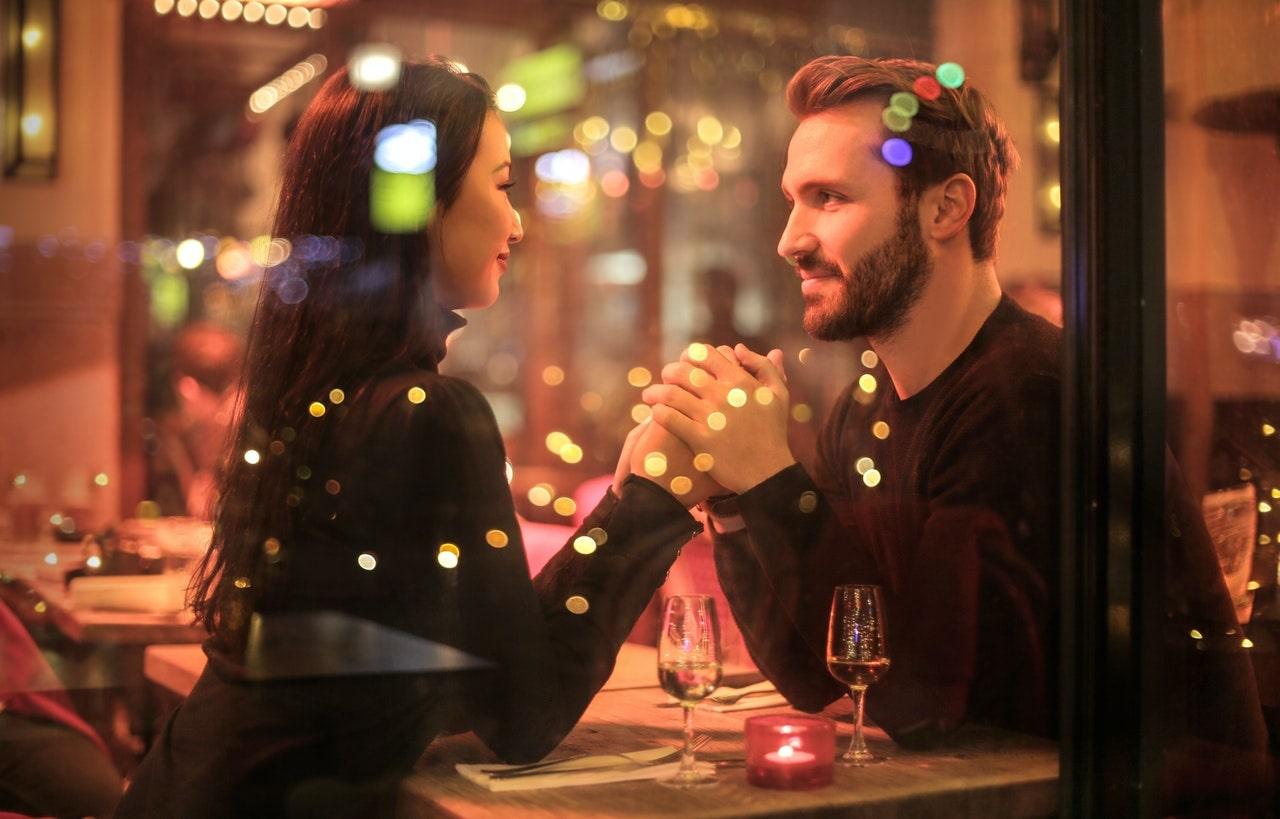 Man and woman on a date