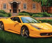 Ferrari F430  on the Lawn