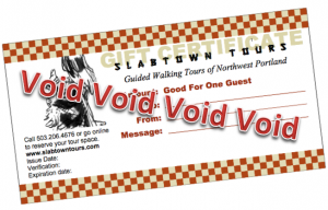 Slabtown Tours gift certificate