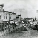 Historical photo of a street in St Johns