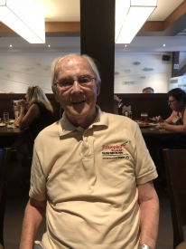 Father Roland Turenne at 94 years in Richelieu, Canada, May 2018