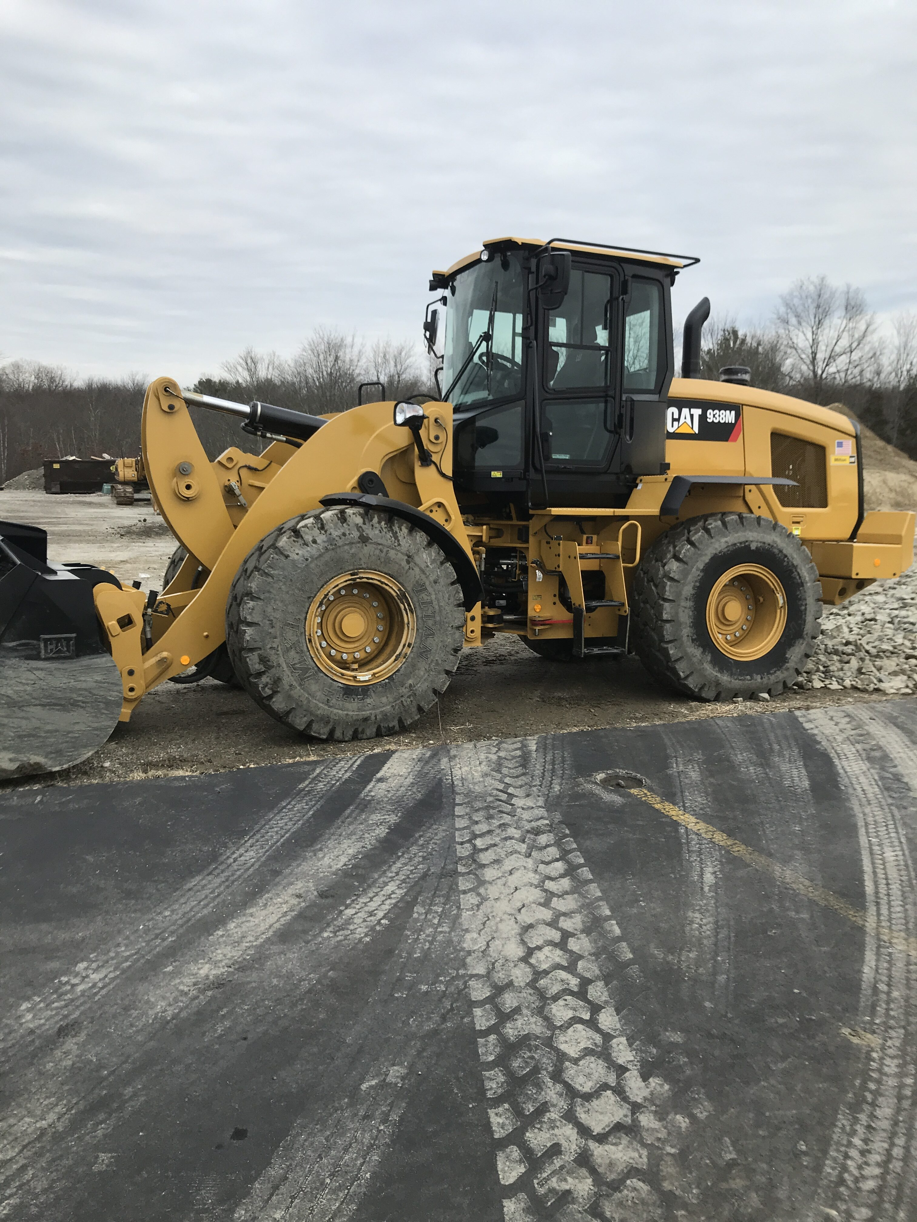 Yellow CAT front loader