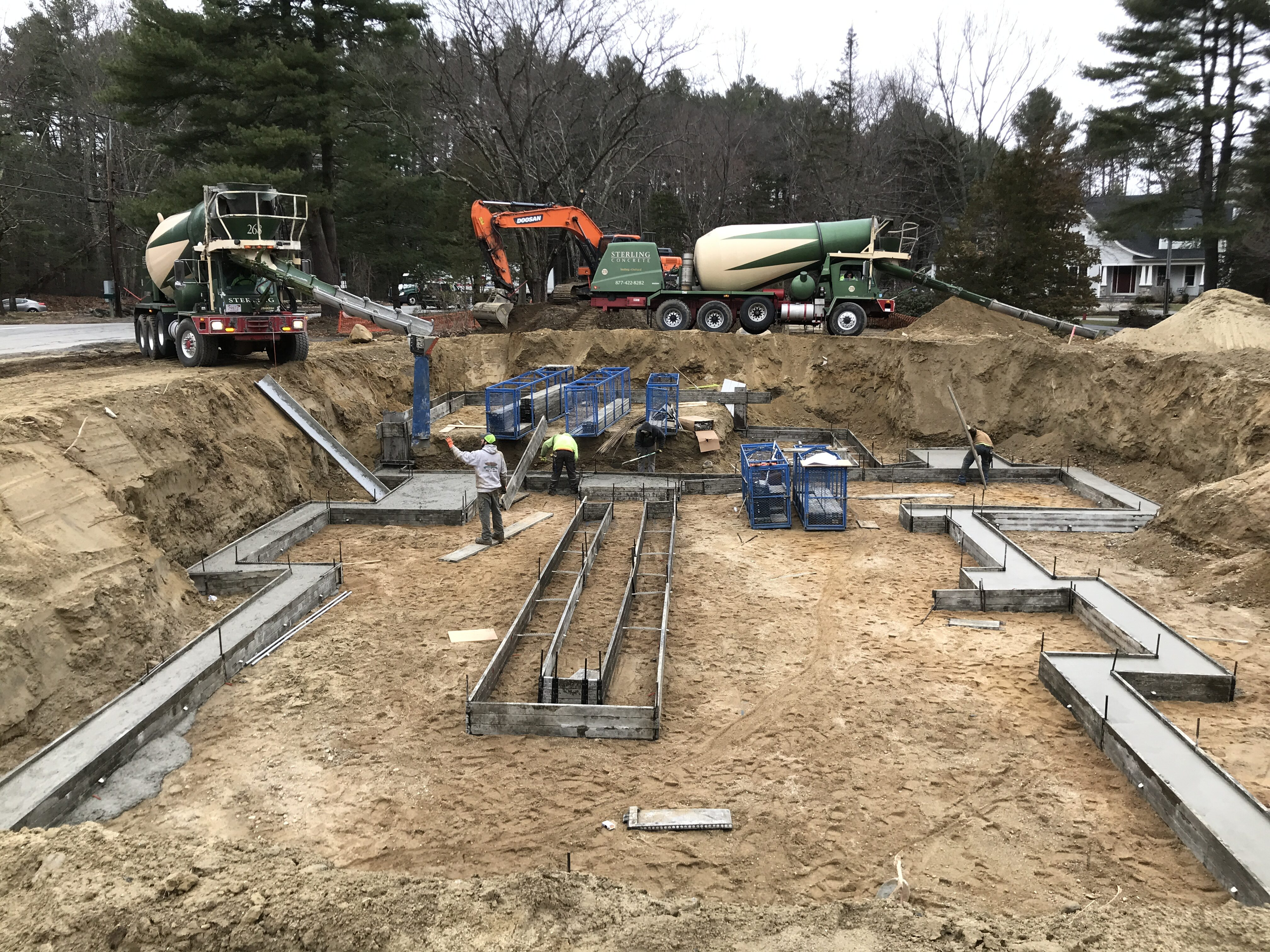 Beginning stage of constructing a property foundation