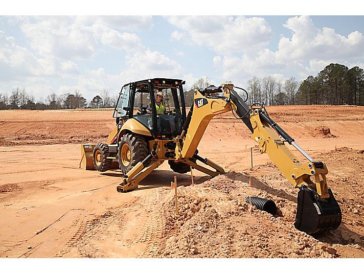 Yellow CAT excavator