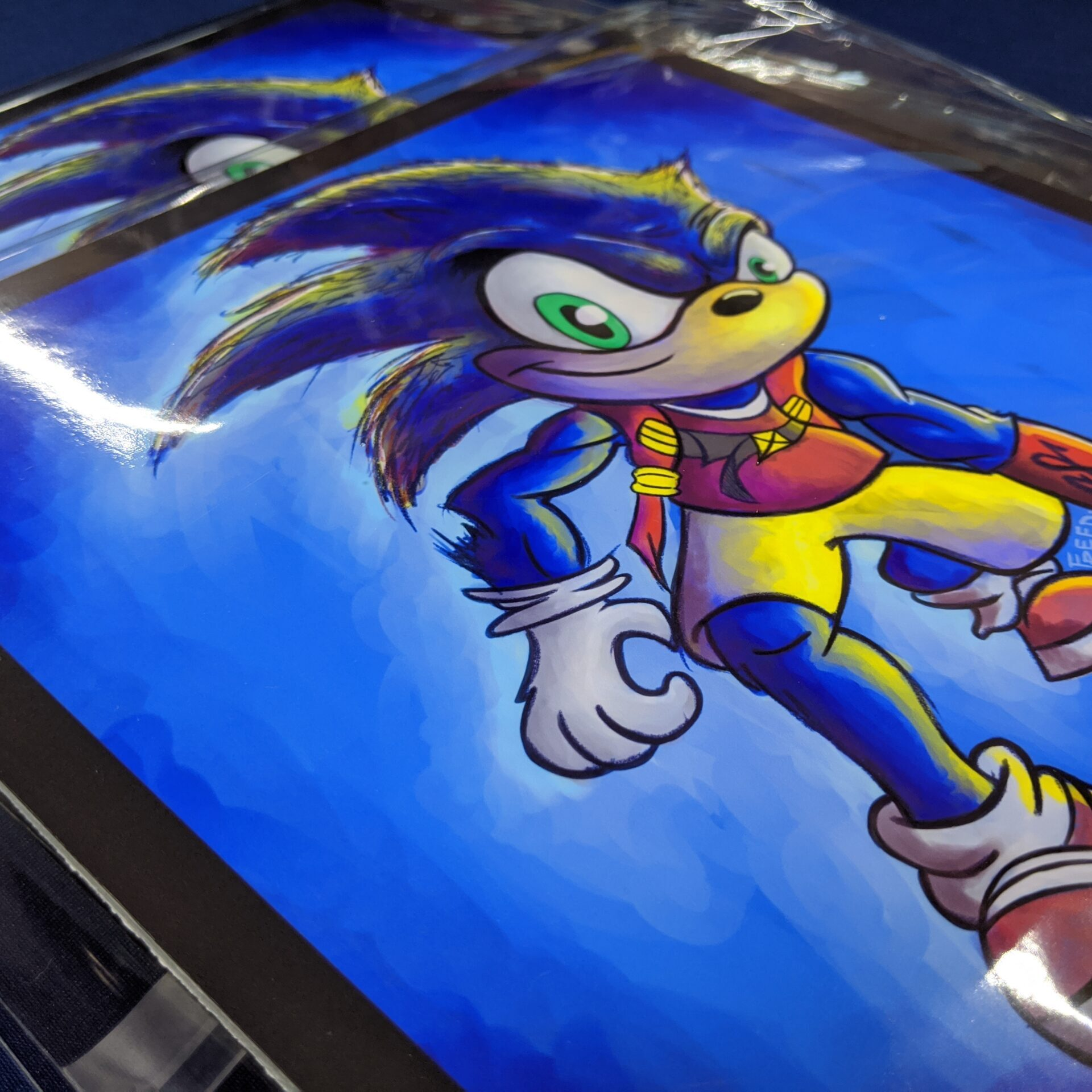 8.5x8.5 Sonic Prints in poly protective plastic cover