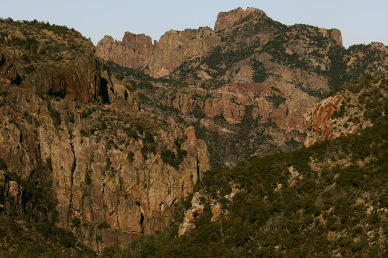 Big Bend National Park - View of Boot Canyon from the Laguna Meadows Trail