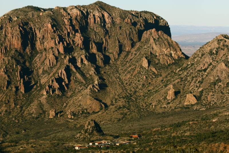 Big Bend National Park - The Chisos Mountain Lodge in the Chisos Basin