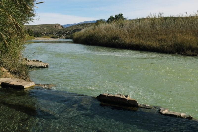 Big Bend National Park - Hot springs pool along the Rio Grande