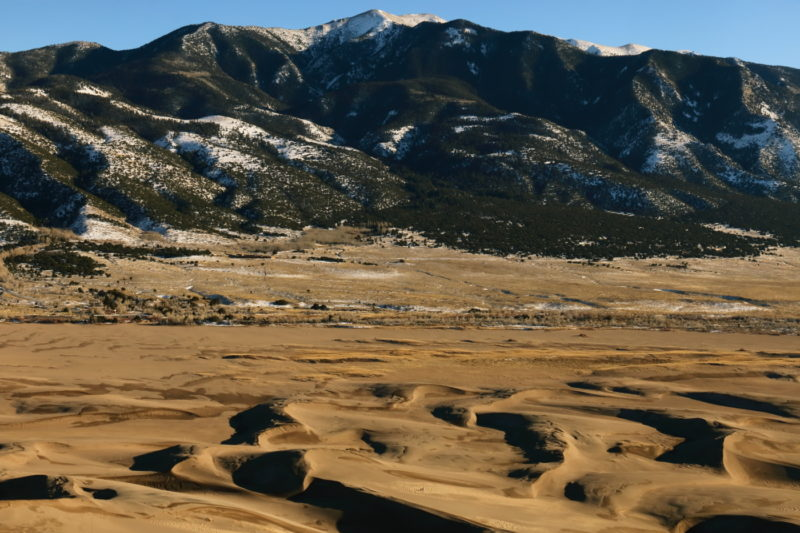 Great Sand Dunes National Park - View of Blanca Peak from the dunefield