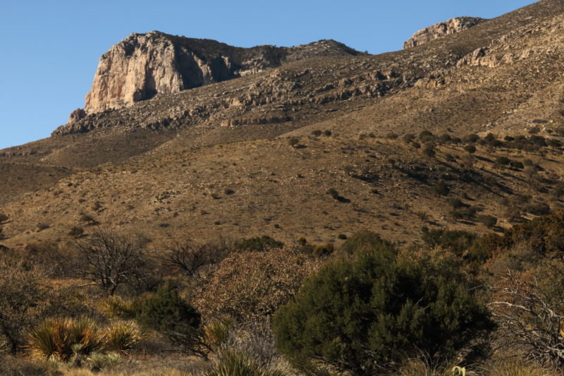 Guadalupe Peak - View of El Capitan from the Visitor Center