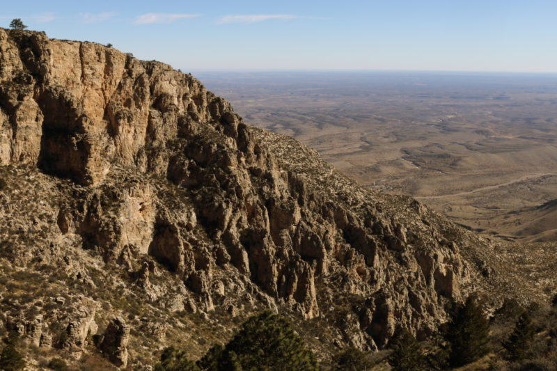 Guadalupe Peak - View from the ridge