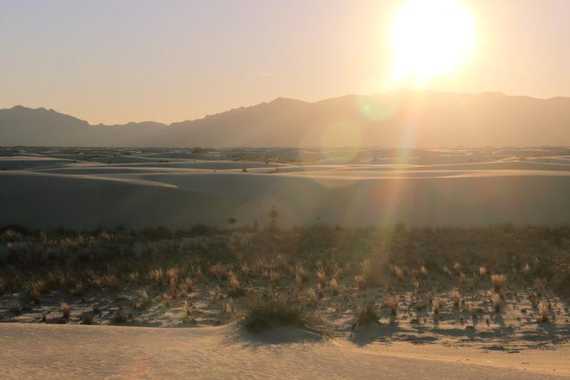 Sunset at White Sands National Monument