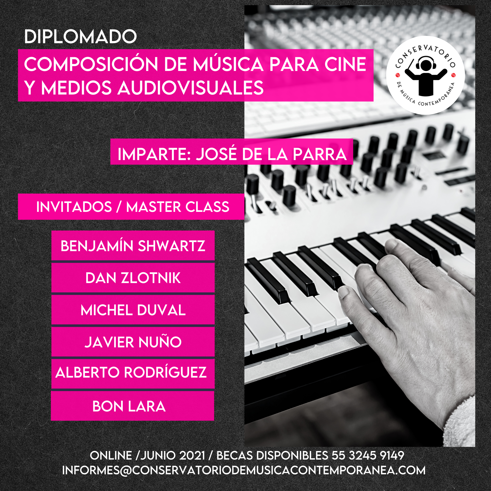 Música para cine y medios audiovisuales.