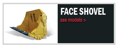 Mining face shovel bucket