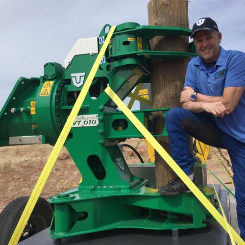 Excavator Tree Shear Attachment