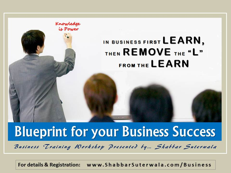 Poster - Blueprint for your Business Success - Workshop-LEARN