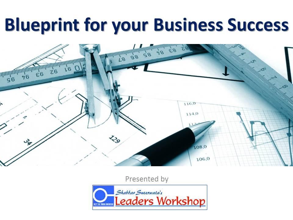 Title Slide - Blueprint for your Business Success