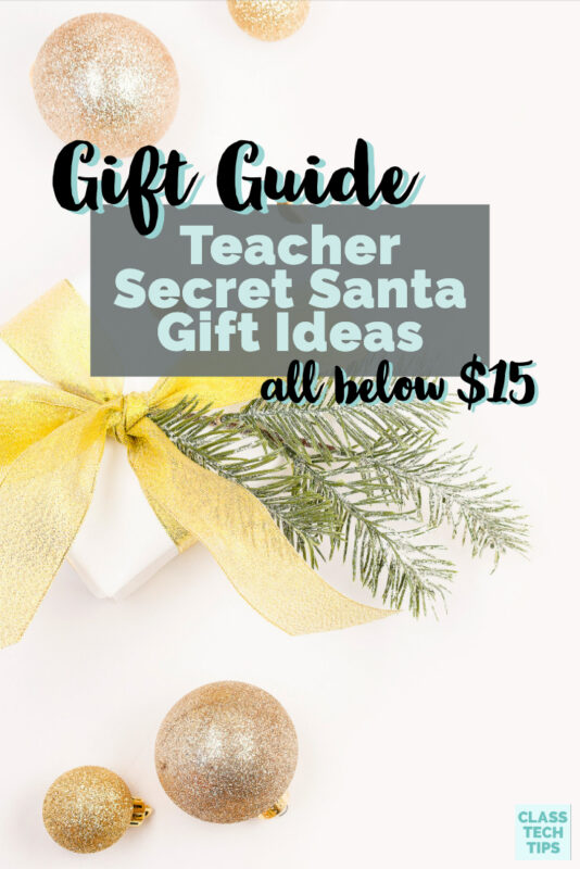For this year's gift guide, I took a bit of a different spin and created a list of teacher Secret Santa Gift Ideas that are all under $15.