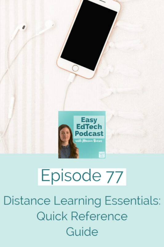 Learn about the five distance learning essentials in my new quick reference guide.