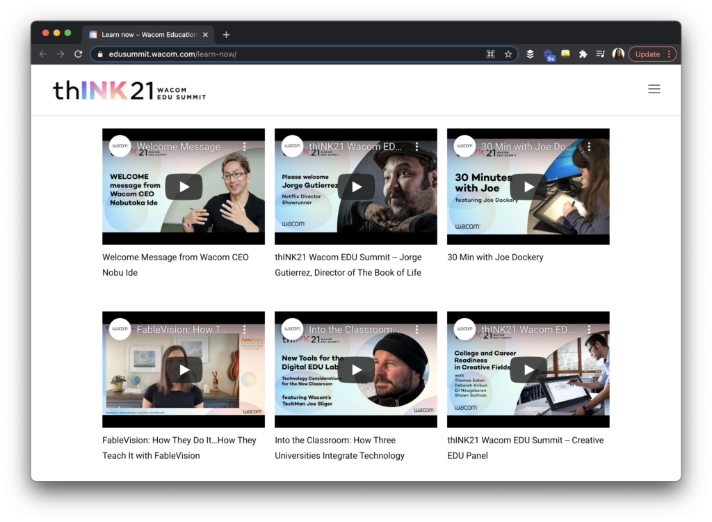 The thINK21 Wacom Education Summit has one more day of live programming and plenty of content you can access right away.