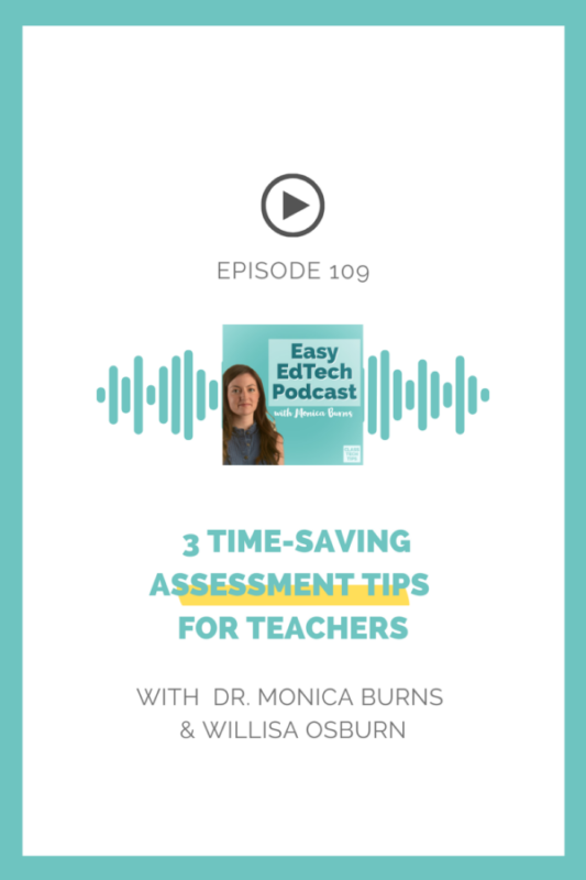 Looking to save time in your assessment routine? In this episode, Willisa Osburn shares three time-saving tips for formative and summative assessment alongside some favorite tools. You'll hear about automating tasks, setting up your digital workspace, and the long-term benefits of vertical planning.