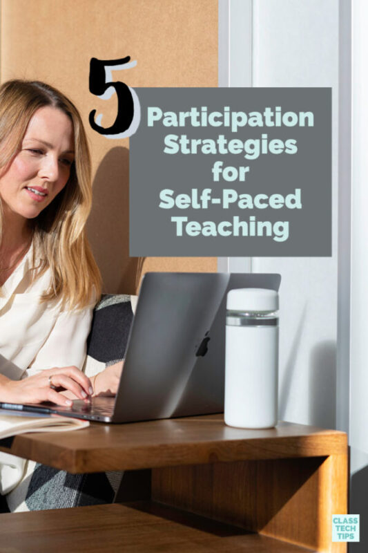 What does participation look like in a self-paced distance learning classroom? Check out these participation strategies for virtual learning.