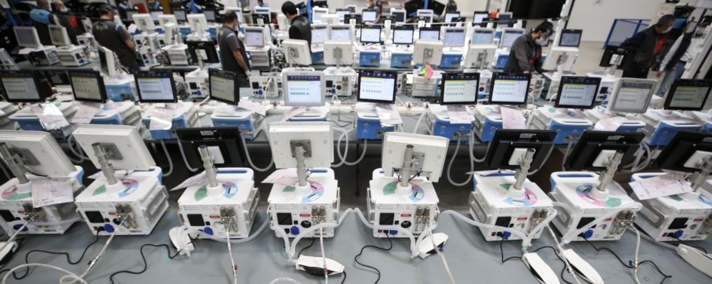 Respiradores usados Inframed