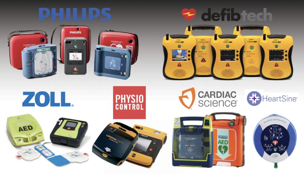DÉA Philips Zoll Defibtech Physio Control Cardiac Science Heartsine