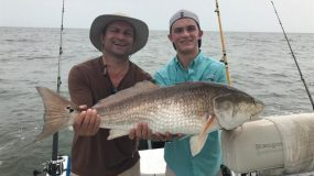 Customers catching big fish in Galveston with Just Cast Charters