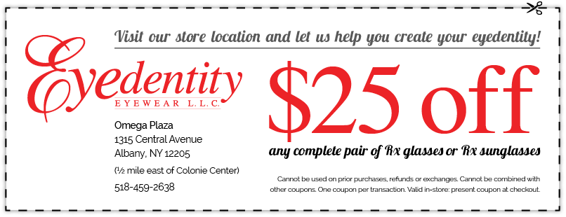 Events & Special Offers - image of $25 Off Coupon for Eyedentity Eyewear LLC