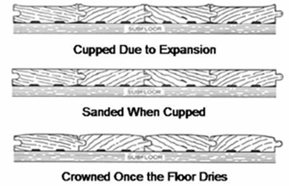Hardwood flooring cupping and crowning diagram