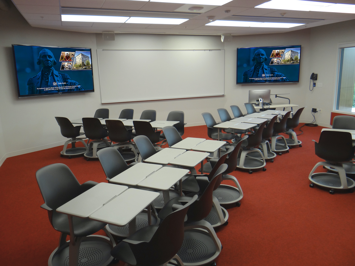 Modular classroom with technology