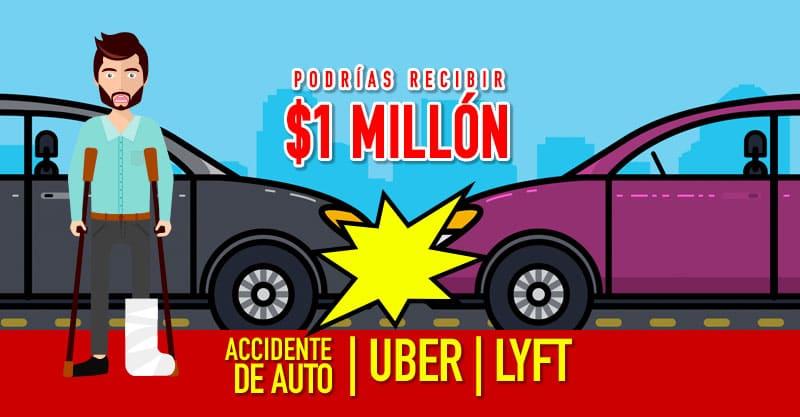 Choque en Uber o Lyft, hasta 1 millón de dólares en cobertura