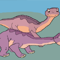 Littlefoot and a Nervous Ali Drawing
