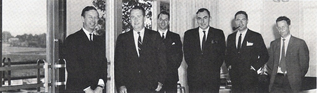 Ronnie Shephard (third from right) and colleagues at RAC in 1966. (The RAConteur Vol. II No. II, June 1 1966) Photo courtesy Ian Miller.