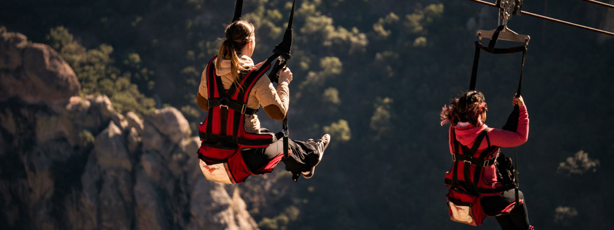 Zipline in Mexico's Copper Canyon