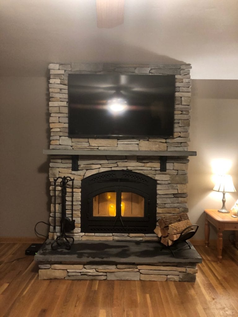North Star high efficiency wood burning fireplace by Heat N Glo