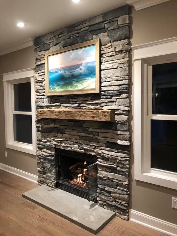 New Peterson Gas Log Conversion fireplace