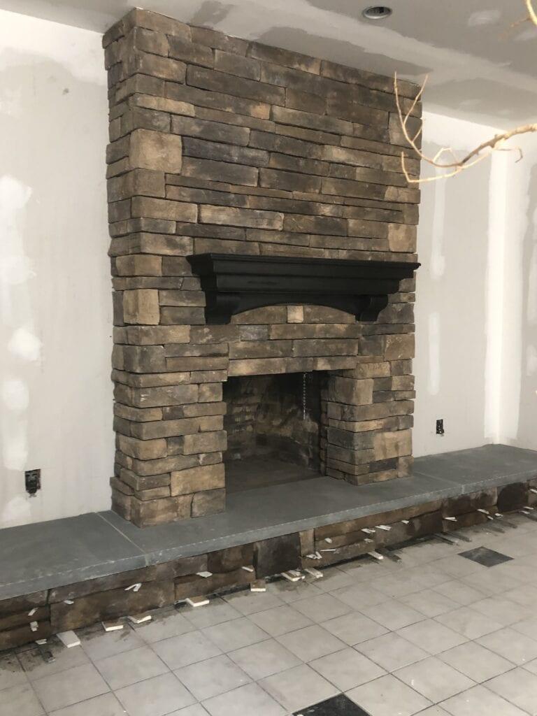 HeatShield Chimney Liner Repair with ledgestone