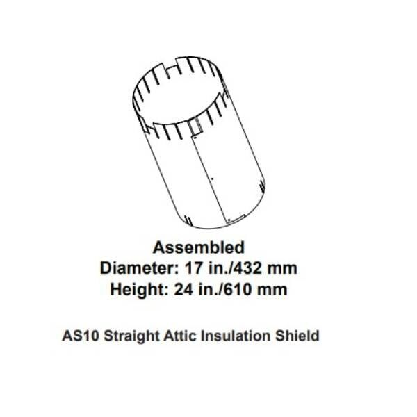 AS10 - Attic insulation shield, straight flue (firestop not included)