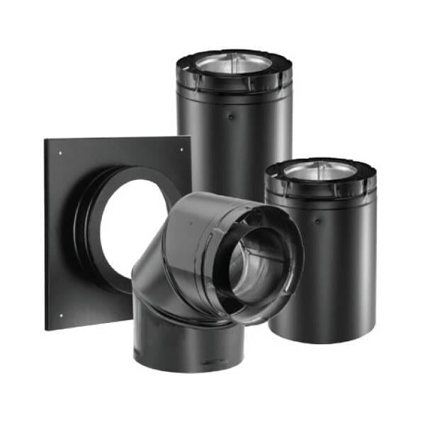Black SLP Venting For Gas Fireplaces