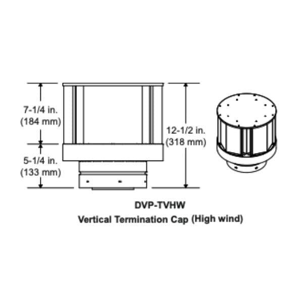 DVP-TVHW VERTICAL TERMINATION CAP