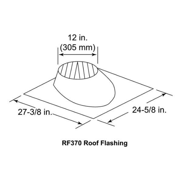 RF370 0-6:12 pitch roof flashing