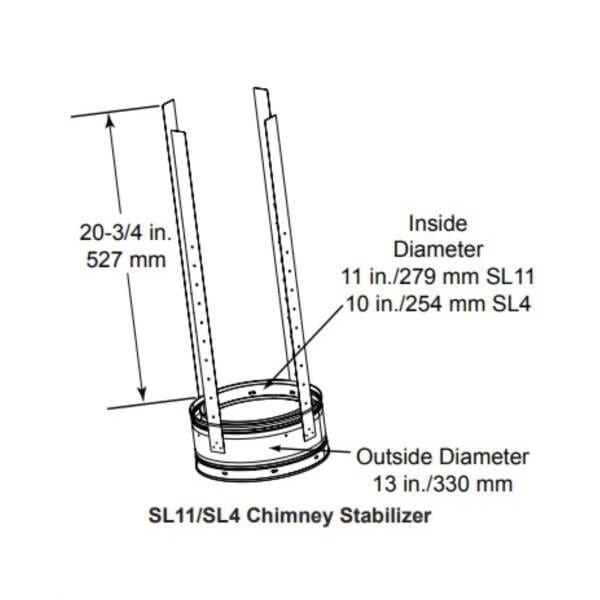"SL11 - 6"" (152mm) chimney stabilizer"