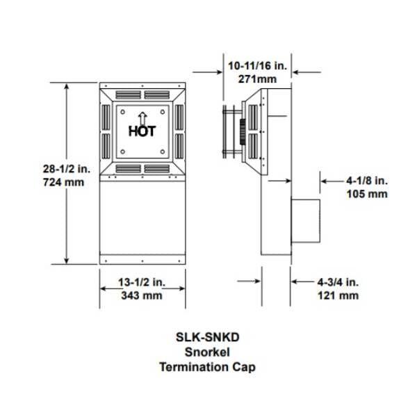 SLK_SNKD Snorkel Termination Cap