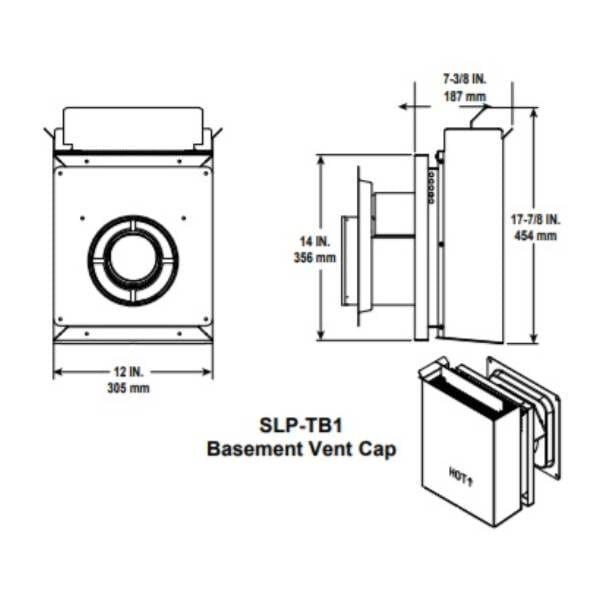 SLP-TB1 BAsement Vent Cap