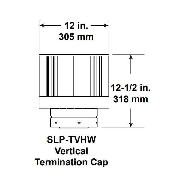 SLP-TVHW Vertical Termination Cap
