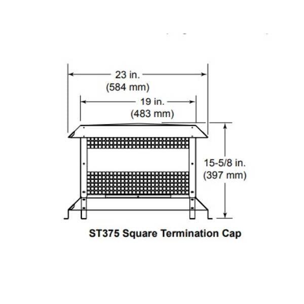 ST375 SQUARE TERMINATION CAP